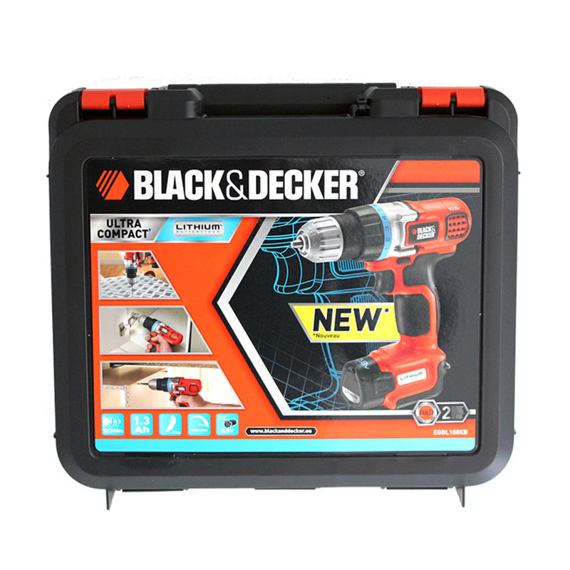 black decker 10 8 v li ion akku bohrschrauber egbl108kb 2 akkus koffer neu ebay. Black Bedroom Furniture Sets. Home Design Ideas